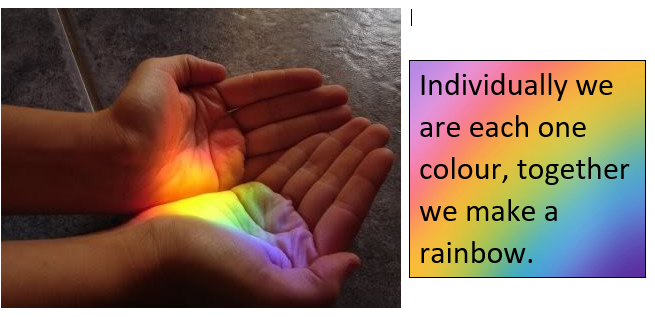 Together we make a rainbow